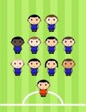 Équipe de football Images stock