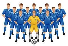 Équipe de football illustration de vecteur