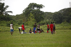 Équipe de football africaine pendant la formation Photo libre de droits