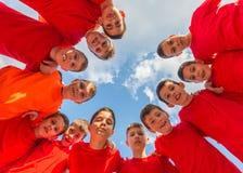 Équipe de football d'enfants images libres de droits