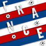 Équipe de football de Frances Photographie stock libre de droits