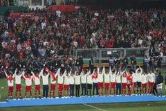 Équipe de football de Hong Kong en Jeux Asiatiques est 2009 Photo stock