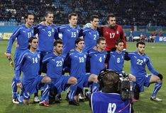 Équipe de football de national de l'Italie Image stock
