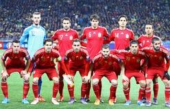 Équipe de football de ressortissant de l'Espagne Photo libre de droits