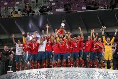 Équipe de football de ressortissant de l'Espagne Photographie stock libre de droits