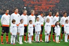 Équipe de football de Shakhtar avec des gosses Images libres de droits