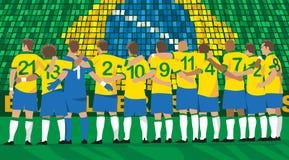 Équipe de football du Brésil illustration libre de droits