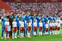 Équipe de football de l'Israël images stock