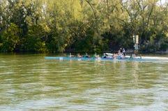Équipe de formation de Dragon Boat en Floride Photo libre de droits
