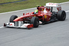 Équipe de Formule 1 de Ferrari : Felipe Massa photographie stock