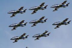 Équipe de Frecce Tricolori Airshow Photo stock