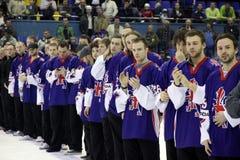 Équipe de glace-hockey de la Grande-Bretagne image stock