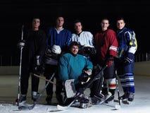 Équipe de joueurs de hockey de glace Photo stock