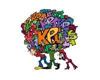 Équipe de 0009 KPIs illustration de vecteur