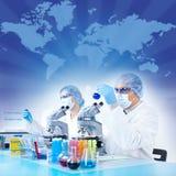 Équipe de la Science images libres de droits