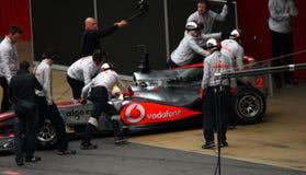 Équipe de McLaren F1 Photo libre de droits