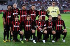 équipe de Milan du football à C.A. Image libre de droits