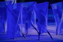 Équipe de Moscou par la gymnastique rythmique Photo libre de droits