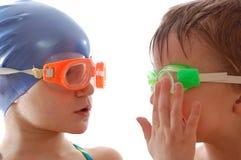 Équipe de natation Photos libres de droits