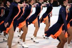 Équipe de patinage synchronisée photo libre de droits