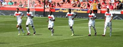 Équipe de PSG après un but Images libres de droits
