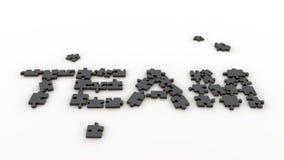 Équipe de puzzle photographie stock