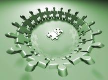 Équipe de puzzle illustration de vecteur