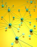 équipe de réseau de connexion Images stock
