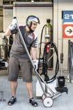 Équipe de Sauber F1 mécanicien Image libre de droits