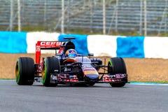 Équipe de Scuderia Toro Rosso F1, Carlos Sainz, 2015 Photographie stock