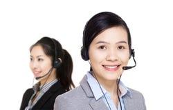 Équipe de service client de l'Asie photo libre de droits