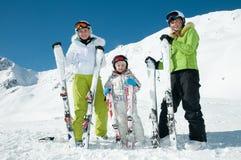 Équipe de ski de famille Image libre de droits