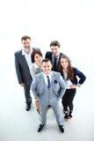 Équipe de sourire heureuse d'affaires dans le bureau Photographie stock libre de droits
