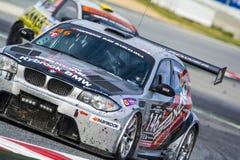 Équipe de sport mécanique de Saxon BMW 135D 24 heures de Barcelone Photographie stock libre de droits