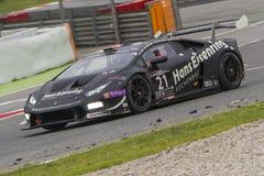 Équipe de sport mécanique de Sportec Lamborghini Huracan 24 heures de Barcelone Images libres de droits