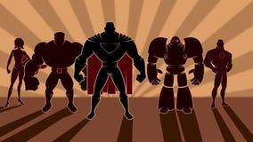 Équipe de super héros illustration de vecteur