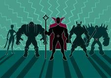 Équipe de Supervillain illustration libre de droits