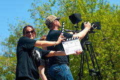 Équipe de tournage Images stock