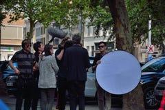 Équipe de tournage au travail Image libre de droits