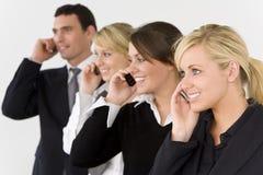 équipe de transmissions d'affaires photos stock