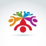 Équipe de travail d'équipe et d'affaires et icône d'amitié Photographie stock