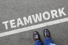 Équipe de travail d'équipe travaillant ensemble le concept d'homme d'affaires d'homme d'affaires Image libre de droits