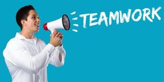 Équipe de travail d'équipe travaillant ensemble le succès jeune mA de concept d'affaires Photo libre de droits