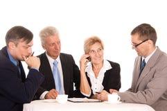 équipe de travail sur un blanc photo libre de droits
