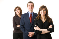 Équipe de trois gens d'affaires. photos stock