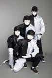 Équipe de verticale des danseurs de rupture de jeunes Image libre de droits