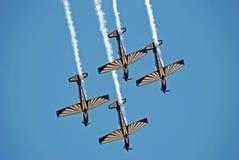 Équipe de vols acrobatiques de faucon de ruban Photos libres de droits