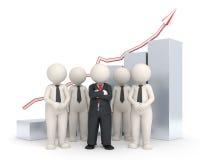 équipe des affaires 3d - graphique financier Images libres de droits