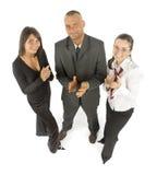 équipe des affaires s d'approbation Images libres de droits
