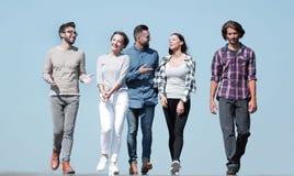 Équipe des amis, promenades sur la route Image libre de droits